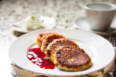 Pancake di patate farciti con formaggio Radiosa Marte Formaggi