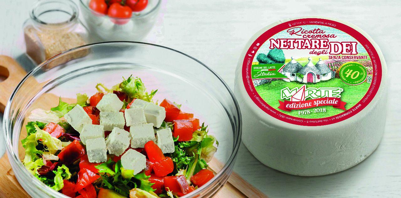 Ricotta marzotica Nettare degli Dei, permio cheese for people