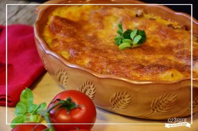 Parmigiana di melanzane con pecorino romano Anselmi